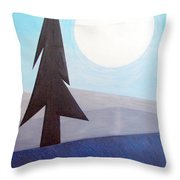 Moon Rings Throw Pillow