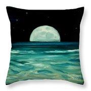 Moon Rising Throw Pillow by Caroline Peacock