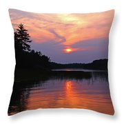 Moon River Silhouette Throw Pillow