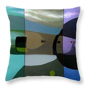 Moon Rocket Number One Throw Pillow
