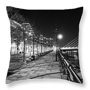 Moon Romance Bw Throw Pillow