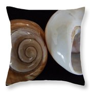 Moon Shells Throw Pillow
