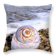 Moon Snail Throw Pillow