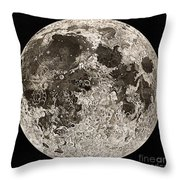 Moon Surface By John Russell Throw Pillow