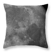 Moon Surface Close-up Throw Pillow