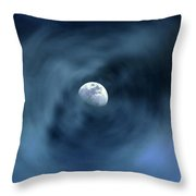 Moon Swirl Throw Pillow