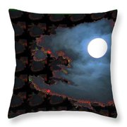 Moon Through Clouds  Photography With Graphic Flavour Created By Navinjoshi At Fineartamerica.co Throw Pillow