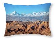 Moon Valley Atacama Desert Throw Pillow