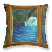 Moon Window Throw Pillow