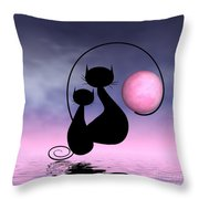 Mooncat's Love Throw Pillow by Issabild -