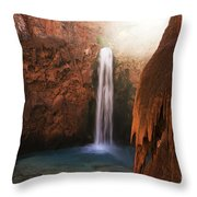 Mooney Falls Grand Canyon 1 Throw Pillow