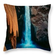 Mooney Falls Throw Pillow