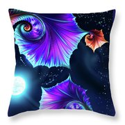 Moonflowers Throw Pillow