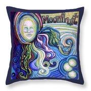 Moonfruit Throw Pillow
