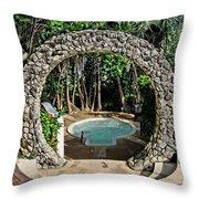 Moongate - Bermuda Throw Pillow