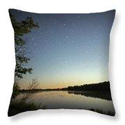 Starlight Over Susan Lake Throw Pillow