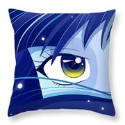 Moonie Throw Pillow by Sandra Hoefer