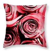 Moonlight And Roses Throw Pillow