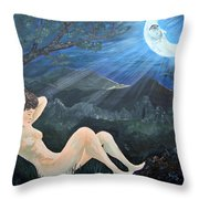 Moonlight And Sorrow Throw Pillow