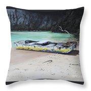 Moonlight At Gold Rock Creek Throw Pillow