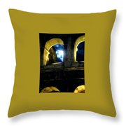 Moonlight At The Colosseum Throw Pillow