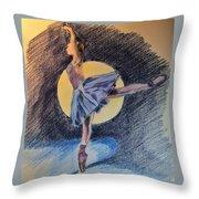 Moonlight Ballerina Throw Pillow