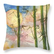 Moonlight Bamboo 2 Throw Pillow