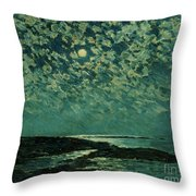 Moonlight Throw Pillow by Childe Hassam
