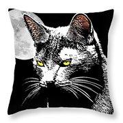 Moonlight Grays Throw Pillow