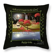 Moonlight In Cottage Grove Throw Pillow by Catherine Holman