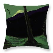 Moonlight In The Rockies Throw Pillow