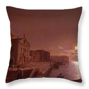 Moonlight In Venice Henry Pether Throw Pillow