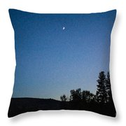 Moonlight Mirage Methow Valley Landscapes By Omashte Throw Pillow