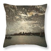 Moonlight Mood, The Stockholm Inlet  Throw Pillow