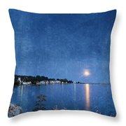 Moonlight On Mackinac Island Michigan Throw Pillow