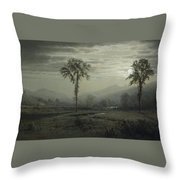 Moonlight On Mount Lafayette Throw Pillow