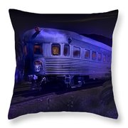 Moonlight On The Sante Fe Chief Throw Pillow