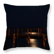 Moonlight On Water Throw Pillow