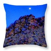 Moonlight Over Peggy's Mountain Throw Pillow