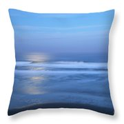 Moonlight Over The Pacific  Throw Pillow