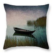Moonlight Paddle Throw Pillow
