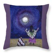 Moonlight Prayer Throw Pillow