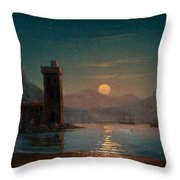 Moonlight Reflecting On Water Throw Pillow