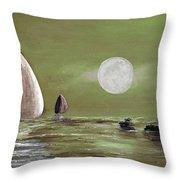 Moonlight Sailnata 2 Throw Pillow