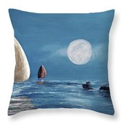 Moonlight Sailnata 4 Throw Pillow