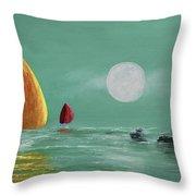 Moonlight Sailnata Throw Pillow