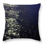 Moonlight Sparkles On The Sea Throw Pillow