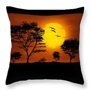 Moonlight, Supermoon Throw Pillow