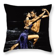 Moonlight Tango Throw Pillow
