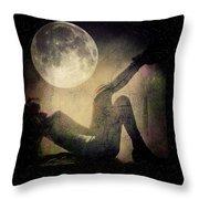 Moonlight Tanning V3 Throw Pillow